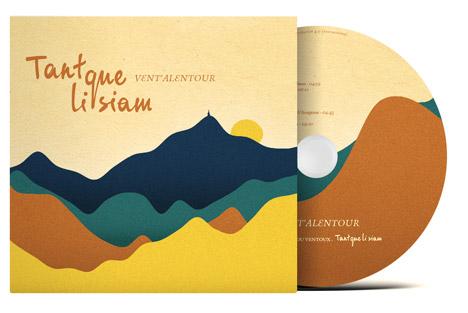 Pochette du CD, album Vent'alentour de Tant que li siam